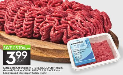 Extra Lean Ground Beef - Sterling Silver Medium Ground Chuck or Compliments Balance Extra Lean Ground Chicken or Turkey