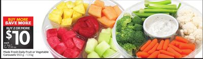 Made Fresh Daily Fruit or Vegetable Carousels
