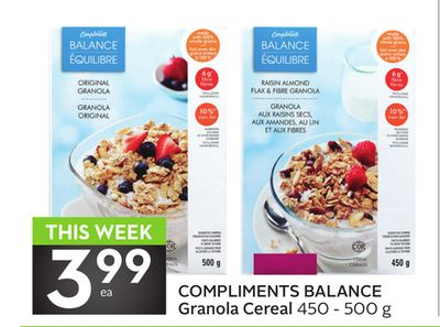 Compliments Balance Granola Cereal