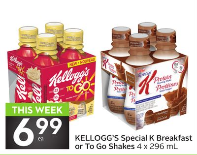Kellogg's Special K Breakfast Or To Go Shakes