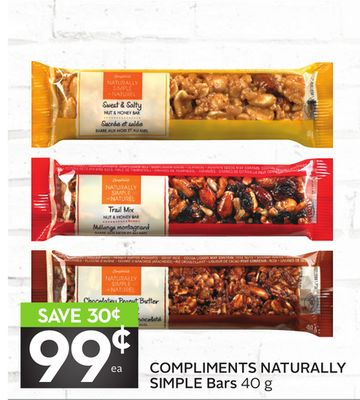 Compliments Naturally Simple Bars