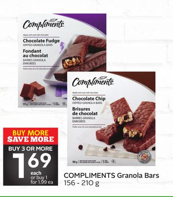 Compliments Granola Bars