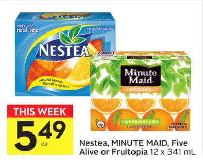 Nestea - Minute Maid - Five Alive or Fruitopia