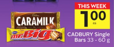 Cadbury Single Bars