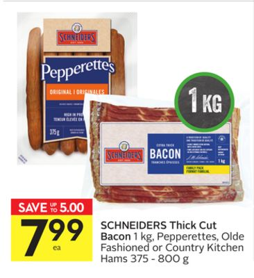 Schneiders Thick Cut Bacon