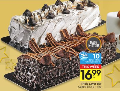 Triple Layer Bar Cakes