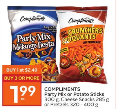 Compliments Party Mix Or Potato Sticks