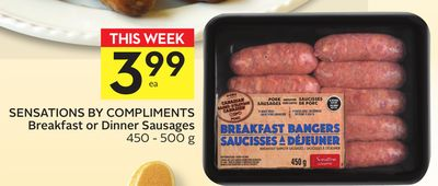 Sensations By Compliments Breakfast or Dinner Sausages