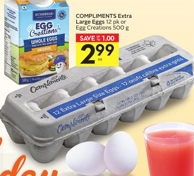 Compliments Extra Large Eggs