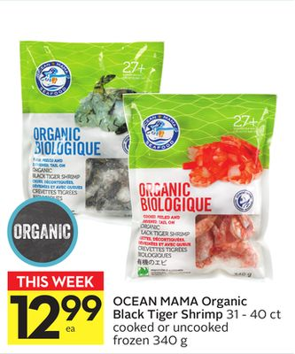 Ocean Mama Organic Black Tiger Shrimp