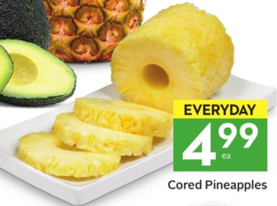 Cored Pineapples