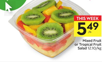 Mixed Fruit or Tropical Fruit Salad