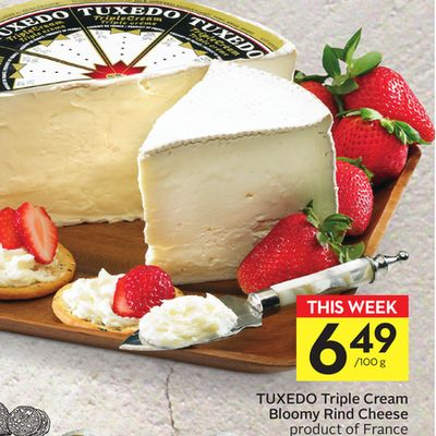 Tuxedo Triple Cream Bloomy Rind Cheese