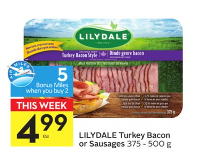 Lilydale Turkey Bacon Or Sausages