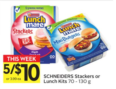 Schneiders Stackers Or Lunch Kits