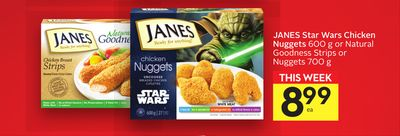 Janes Star Wars Chicken Nuggets 600 G Or Natural Goodness Strips Or Nuggets
