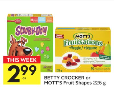 Betty Crocker Or Mott's Fruit Shapes