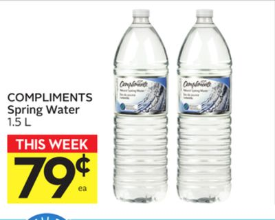 Compliments Spring Water
