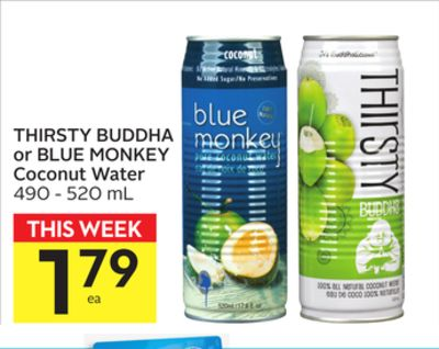 Thirsty Buddha Or Blue Monkey Coconut Water