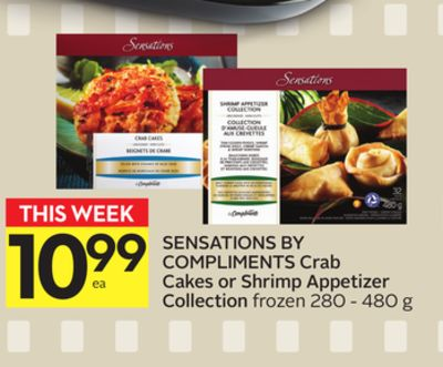 Sensations By Compliments Crab Cakes Or Shrimp Appetizer Collection