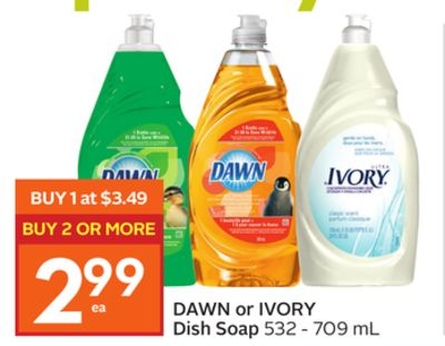 Dawn Or Ivory Dish Soap