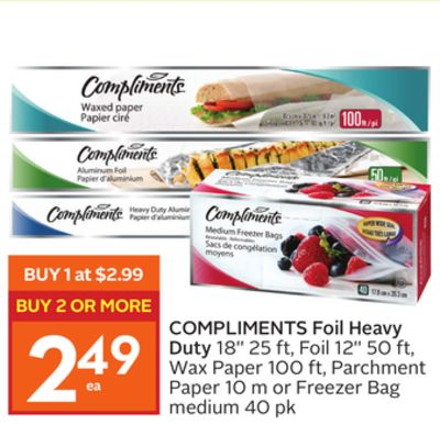 Compliments Foil Heavy Duty