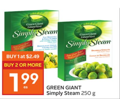 Green Giant Simply Steam