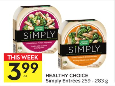 Healthy Choice Simply Entrées
