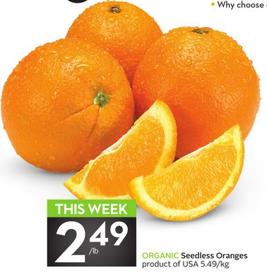 Organic Seedless Oranges