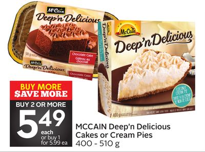 Mccain Deep'n Delicious Cakes or Cream Pies