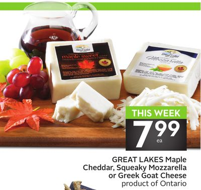 Great Lakes Maple Cheddar - Squeaky Mozzarella or Greek Goat Cheese