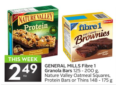General Mills Fibre 1 Granola Bars