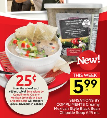 Sensations By Compliments Creamy Mexican Style Black Bean Chipotle Soup