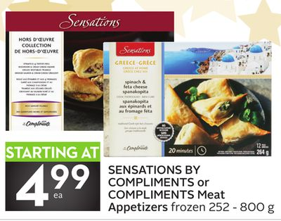 Sensations By Compliments or Compliments Meat Appetizers