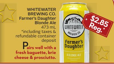 Whitewater Brewing Co. Farmer's Daughter Blonde Ale