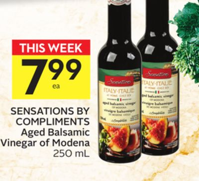 Sensations By Compliments Aged Balsamic Vinegar of Modena