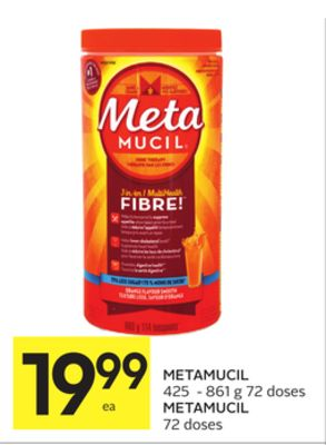 Metamucil is a great product that assist you with feeling full while on the South Beach Diet, which is why I purcased it. I was a little disappointed when it arrived and it was not the sugar-free as I had ordered.