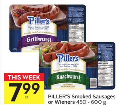 Piller's Smoked Sausages or Wieners