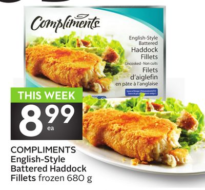 Compliments English-style Battered Haddock Fillets