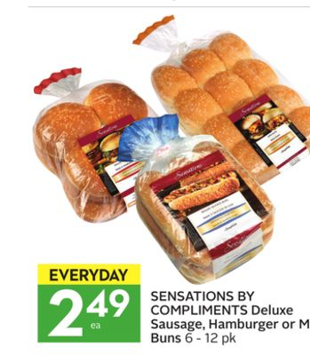 Sensations By Compliments Deluxe Sausage - Hamburger or Mi Buns