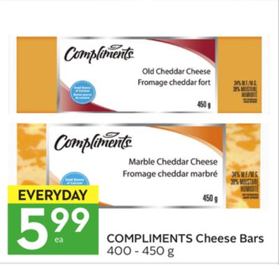 Compliments Cheese Bars