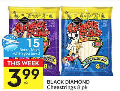 Black Diamond Cheestrings - 15 Air Miles Bonus Miles