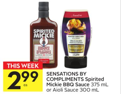 Sensations By Compliments Spirited Mickie Bbq Sauce