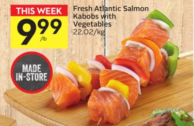 Fresh Atlantic Salmon Kabobs With Vegetables