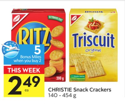 Christie Snack Crackers - 5 Air Miles Bonus Miles