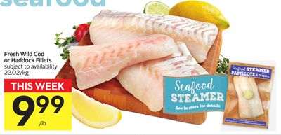 Fresh Wild Cod or Haddock Fillets