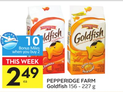 Pepperidge Farm Goldfish - 10 Air Miles Bonus Miles