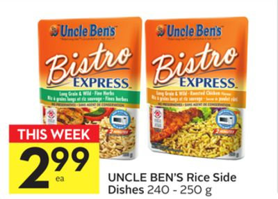 Uncle Ben's Rice Side Dishes