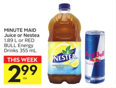 Minute Maid Juice or Nestea