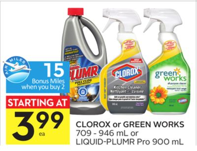 Clorox or Green Works - 15 Air Miles Bonus Miles